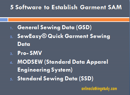 5 Software to Establish Garment SAM