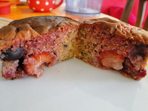 Muffins roses à la quinoa