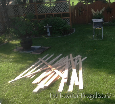 Lumber to build a fire bowl table