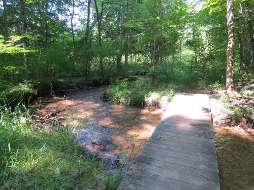 footbridge over a creek