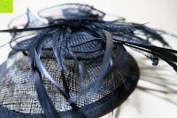 oben: Valdler Damen Fascinator Hut Mini-Hut Feder Ineinander greifen Netz Fasching Haarschmuck