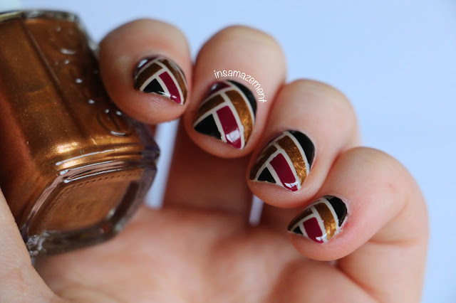 Art Deco Ribbon Nail Art