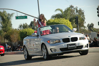 Camarillo Christmas Parade.Rachel Russell Miss Teen Ventura County Intl 2012