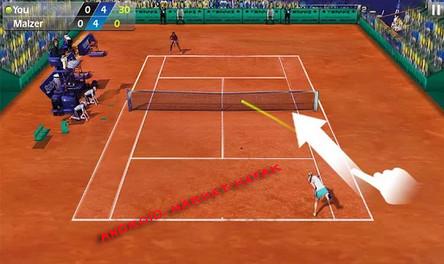 لعبة التنس المسلية Tennis 3D لاندرويد