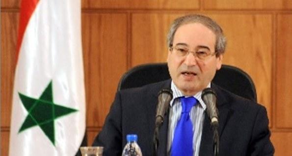 المقداد  الامارات هي المعنية بالاعلان عن فتح سفاراتها في سوريا