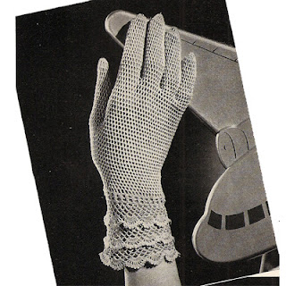 Mesh Gloves Crochet Pattern, above wrist