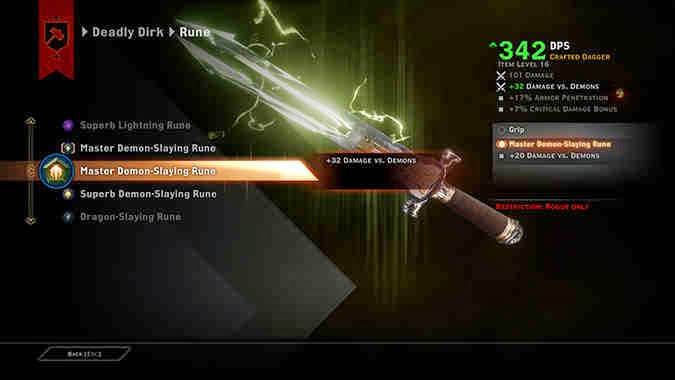 Dragon Age Inquisition Master Crafting