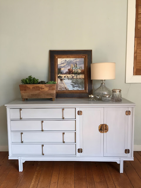 Chalk Paint a Mid-Century Modern Buffet or Credenza