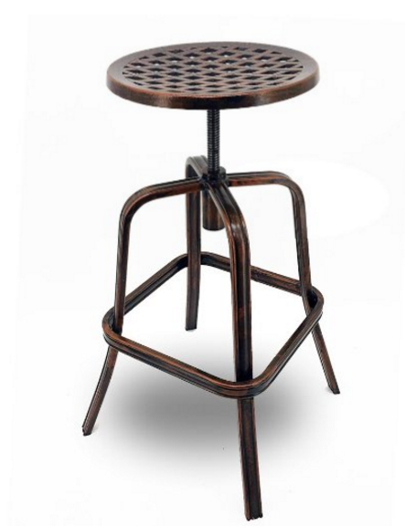 Neptune Rotating Adjustable Height Cast Aluminum Outdoor Bar Stools