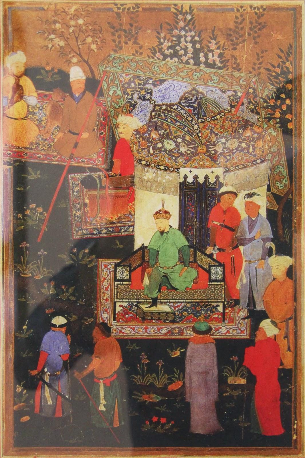 Ouzbékistan, Samarcande, observatoire Ulug Beg, ministuare, Amir Timur et ses neveux à l'occasion de leur mariage à Konigil en 1404, © L. Gigout, 2012
