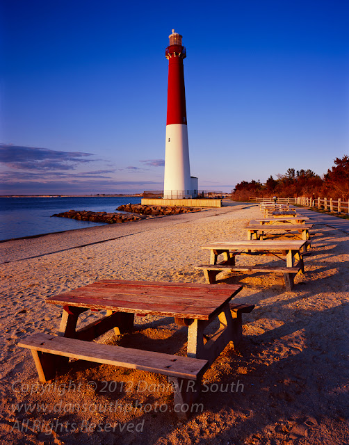 a large format photo of the barnegat light lighthouse in new jersey