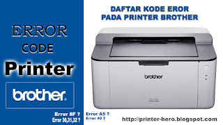 Daftar Kode Error Printer Brother