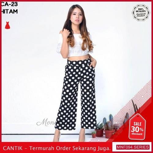 MNF094C140 Celana Ca Wanita 23 Polkadot Kulot Celana 2019 BMGShop