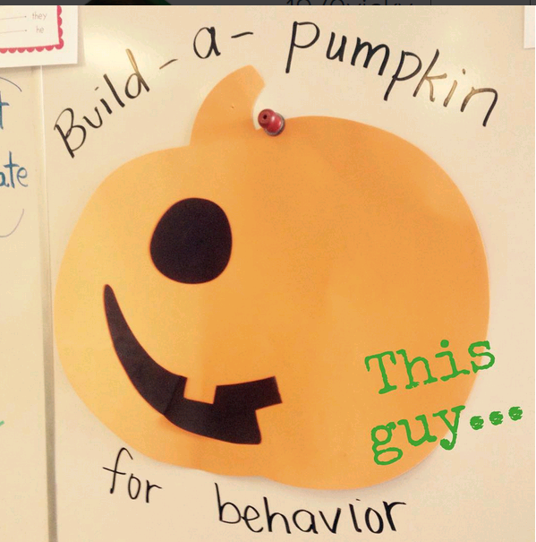 behavior management tips, build a pumpkin for behavior, behavior tips