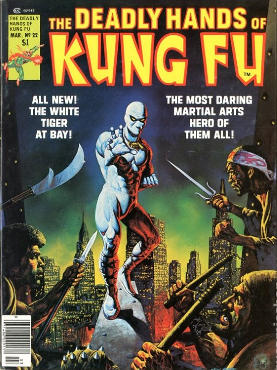 Portada de The Deadly Hands of Kung Fu #22, obra de Bob Larkin