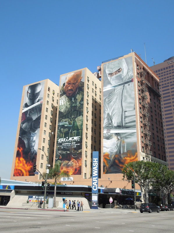 Giant GI Joe Retaliation movie billboards Downtown la