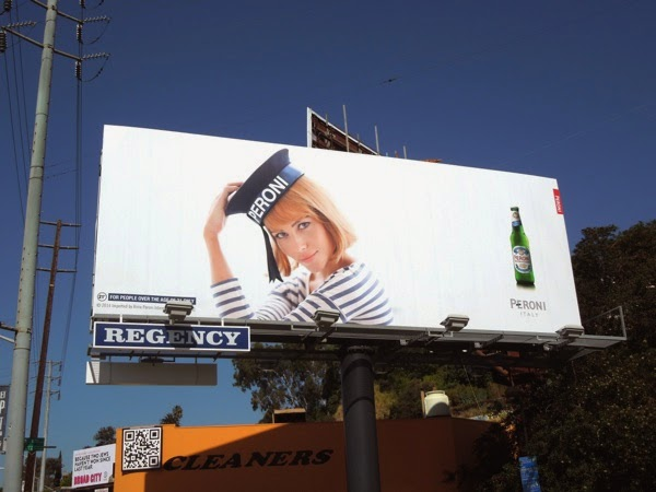 Peroni Beer sailor hat billboard