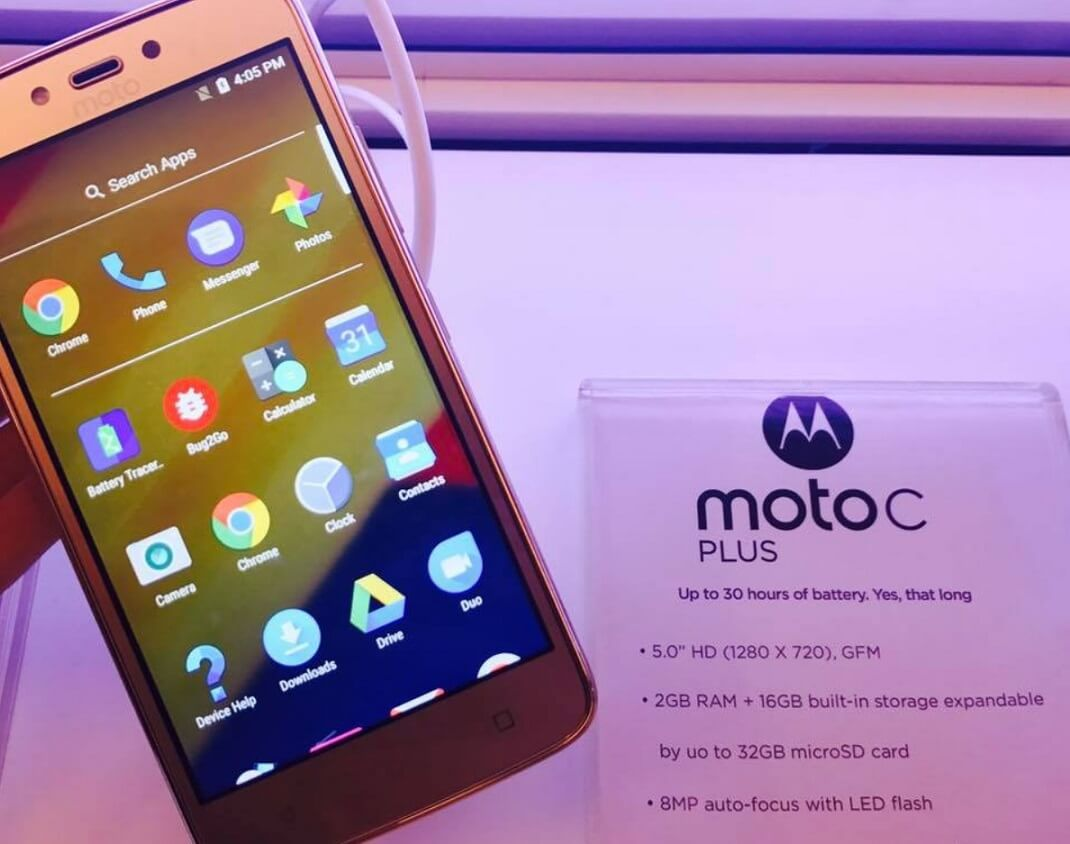 Moto C Plus Unveiled in PH for Php6,299; Android Nougat w/ 4000mAh Battery