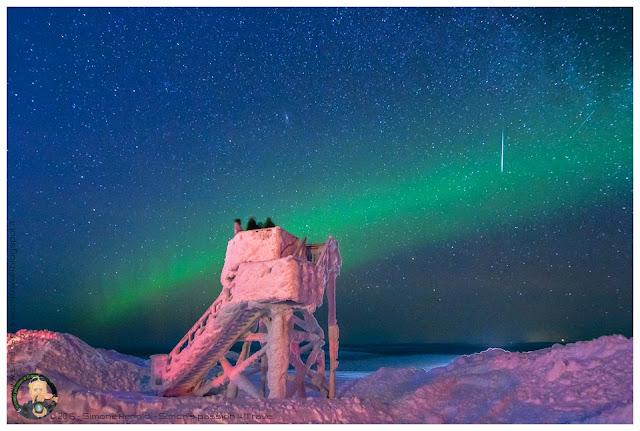 La prima aurora boreale in lapponia