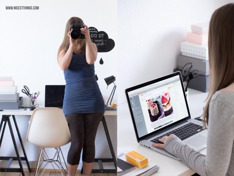Blog Tipps und Tricks für Blogger Behind The Scenes Schreibtisch