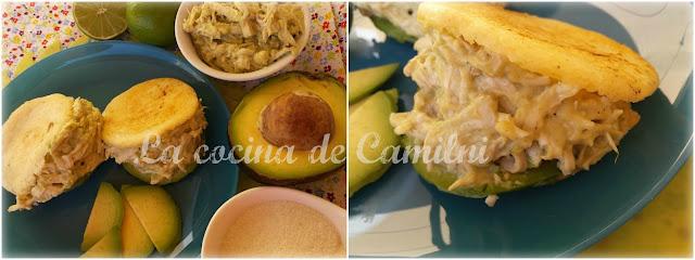 Arepas reina pepiada (La cocina de Camilni)
