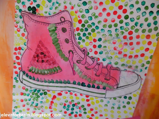 Aboriginal Art Converse Shoes - Art Project Catchup!