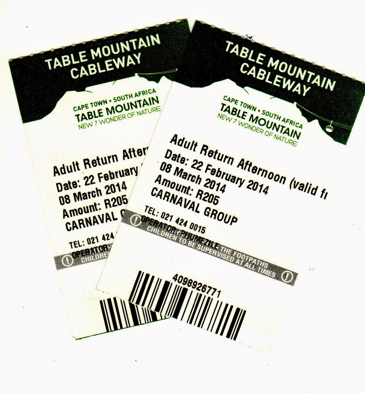 ticket Table Mountain