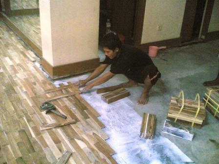 Cara memasang Lantai Kayu