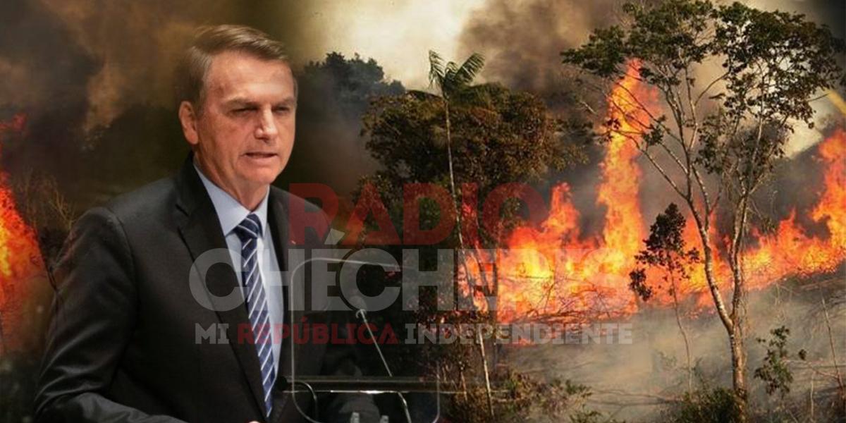 """""""Esa historia de que la Amazonia arde en fuego es mentira"""": Bolsonaro y su negación"""