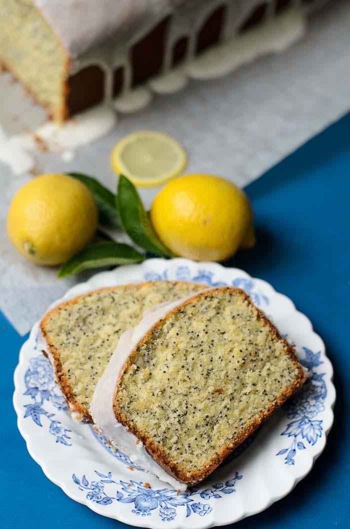 Easy to bake Lemon Poppy Seed Loaf Cake recipe.