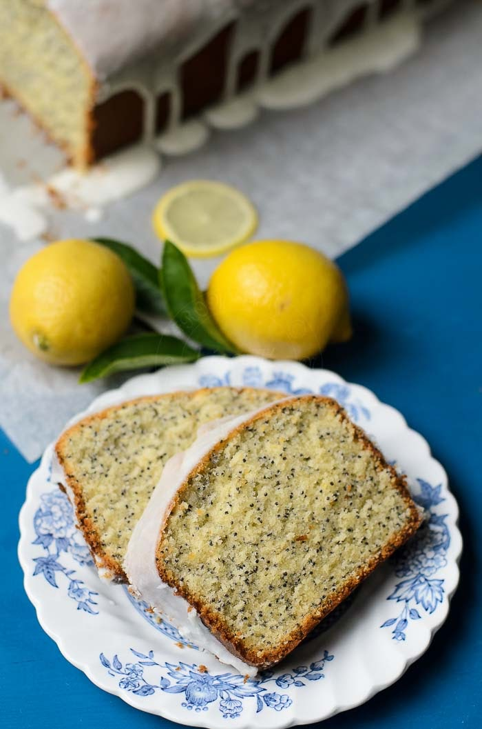 Easy to bake Lemon Poppy Seed Loaf Cake recipe.
