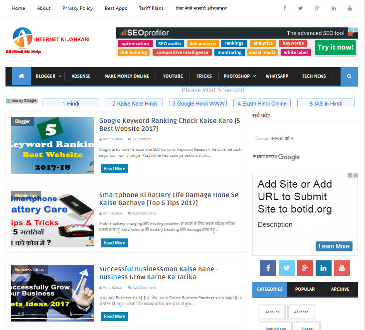Top 10 Blogger Mobile Friendly Free Templates