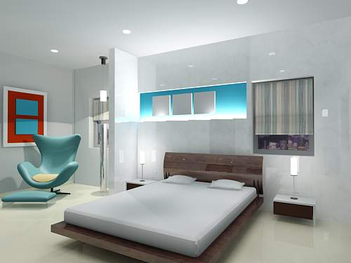 Bedroom Interior Scene in 3ds Max Model