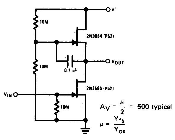 high gain jfet audio amplifier