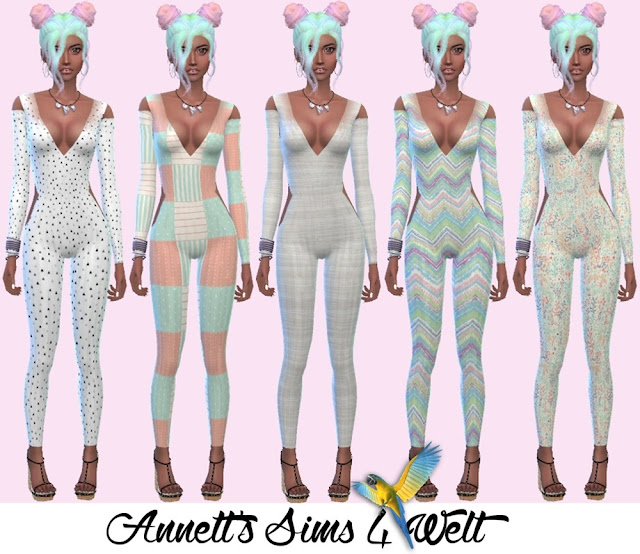 Annetts Sims 4 Welt: Accessory Lace Bodysuits