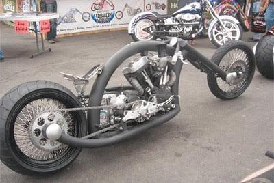 Motocicleta con forma tubular