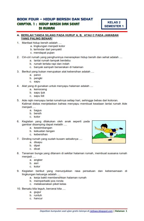 Download Soal Tematik Kelas 2 Semester 1 Tema 4 Subtema 1 ...