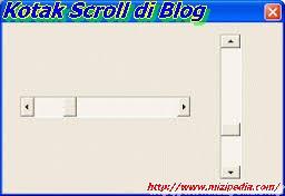 Cara Membuat Kotak Scroll di Blog