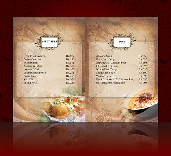 mẫu thiết kế menu đẹp