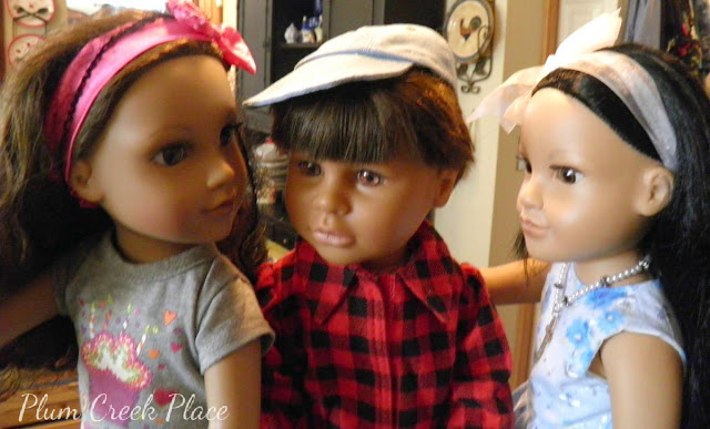 Little Jo's Doll Party - 18 inch dolls, Journey doll Kyla, Callie, Boy Doll