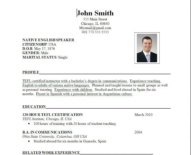 Sample Of Job Resume Format | Sample Resumes