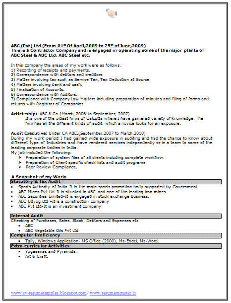 cv and resume samples with free download excellent resume format free
