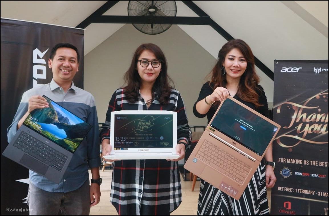 """Hadirkan Promo Cashback Hingga Rp 10 Juta, Acer Gelar Program """"Terima Kasih Pelanggan"""" di Bandung, Jawa Barat"""
