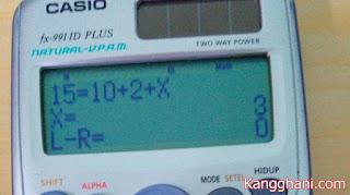 Cara Mencari Nilai X dengan Menggunakan Kalkulator Scientific