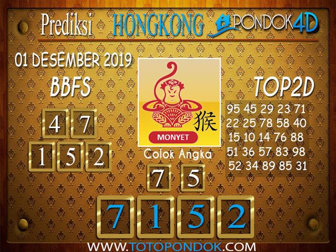 Prediksi Togel HONGKONG PONDOK4D 01 DESEMBER 2019