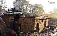 Blockhaus-Neubau brannte bis auf die Grundmauern ab