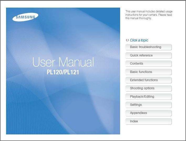 samsung pl120 manual pdf español