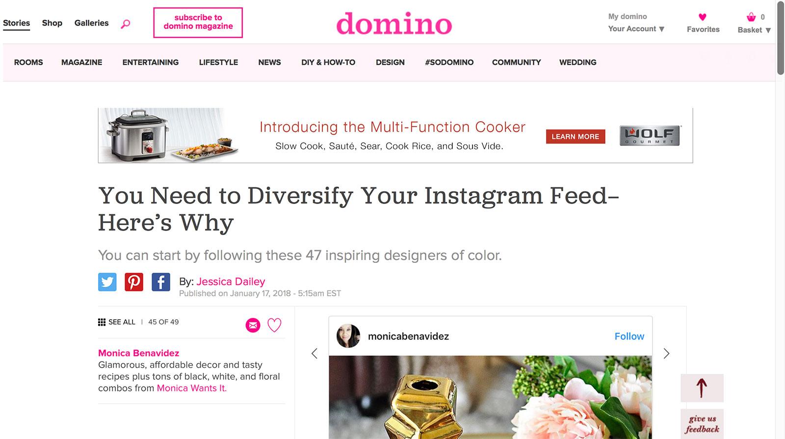 Domino Diversify Your Instagram