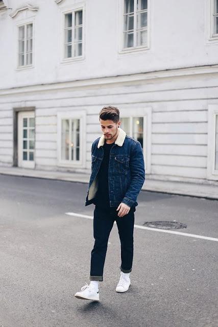 Jaqueta Masculina Jeans com forro de pelo