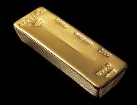 Bir adet külçe altın
